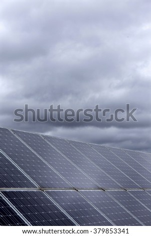 Solar Power Station in the dramatically Light