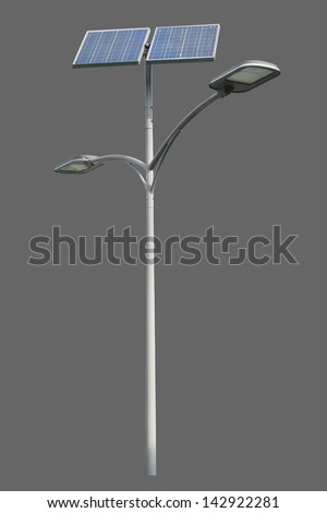 Solar powered street light - stock photo