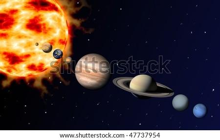 solar system - stock photo