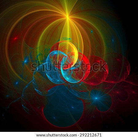Solar System abstract illustration - stock photo