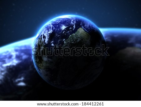 Solar System - Planet  Earth. Elements of this image furnished by NASA - stock photo