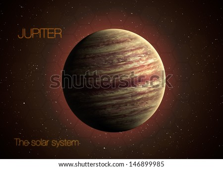 Solar System - Planet  Jupiter. Elements of this image furnished by NASA - stock photo