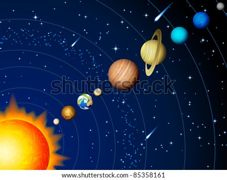 Solar system - raster version
