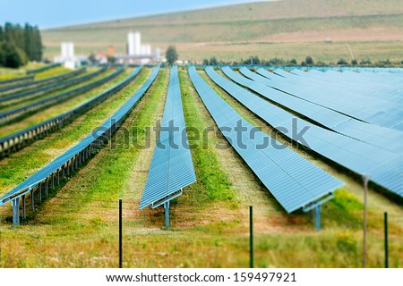 Solar thermal collectors - stock photo