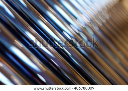 solar tubes for ecological heating - stock photo