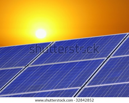 solarpanel - stock photo