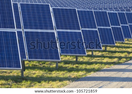 Solarpark - stock photo