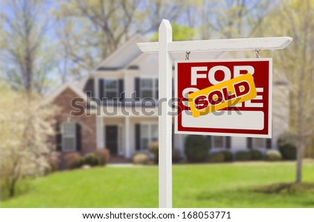 Home Sold Sign Sold Home For Sale Real Estate