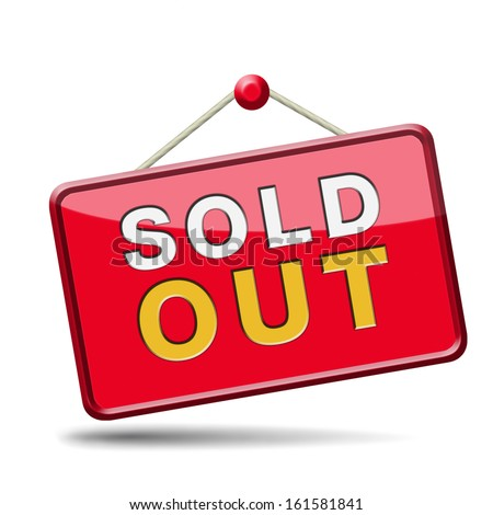 sold out of stock no longer available icon or sign limited edition and final clearance banner - stock photo
