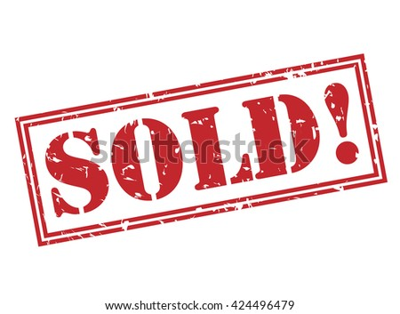 sold! stamp - stock photo