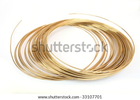 Solder wire on white background. - stock photo
