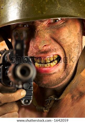soldier... - stock photo