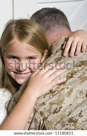 Soldier and his daughter