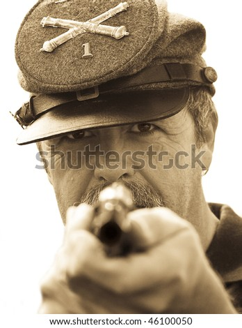 Soldier Blue - stock photo