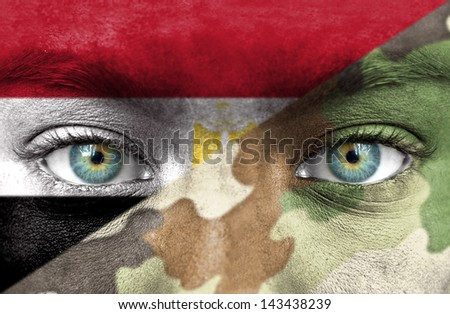 Soldier from Egypt - stock photo
