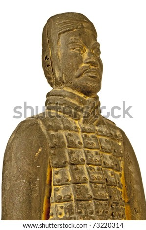 soldier of clay of the chinese emperor grave in Xian China