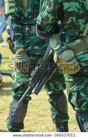 Soldier thailand - stock photo