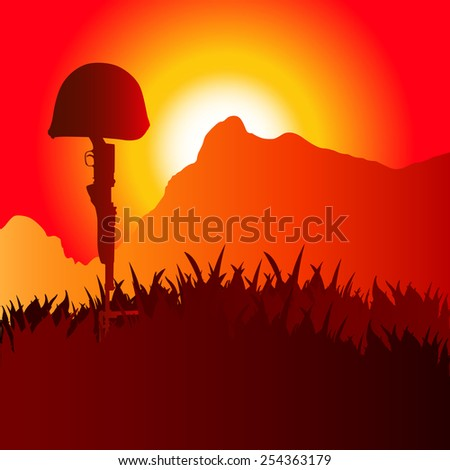Soldiers grave - stock photo