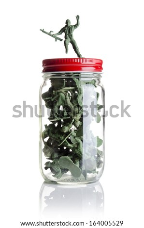 Soldiers in a jar  - stock photo
