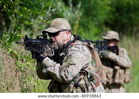 Soldiers in US Army Special Forces uniform