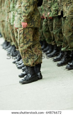 Soldiers of the armed forces - stock photo