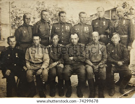 Soldiers of The Second World War, USSR - stock photo