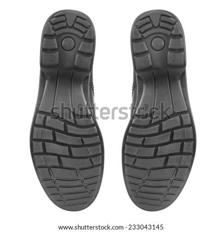 sole of shoe isolated on white background - stock photo