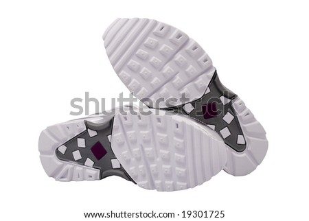 Sole of sport shoes - stock photo