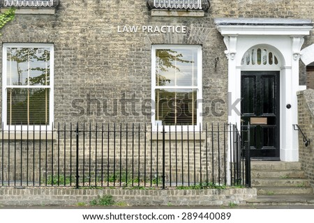 Solicitors' (Lawyer) office conceptual image - stock photo
