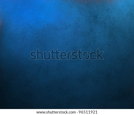 Solid Blue Background Abstract Distressed Antique Dark Texture And Grunge Black Edges On Elegant Wallpaper