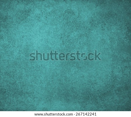 solid blue green background design with distressed vintage texture - stock photo