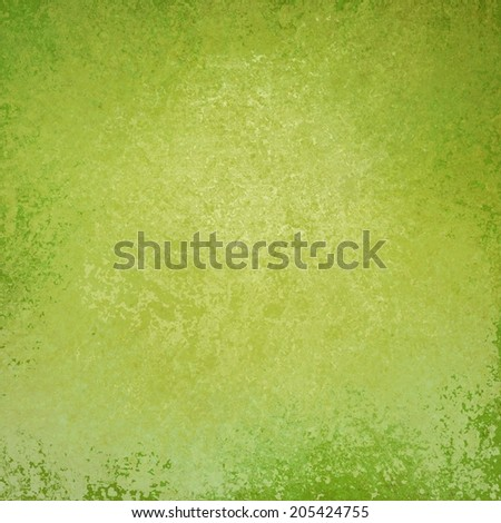 solid green background design with distressed vintage texture and faint dark green border, light green paper, old smeared painted yellow green wall background
