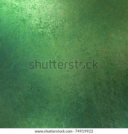 solid green background with old grunge texture and soft lighting - stock photo