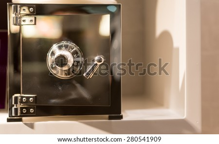 Solid Silver Safe with Dial Combination - stock photo