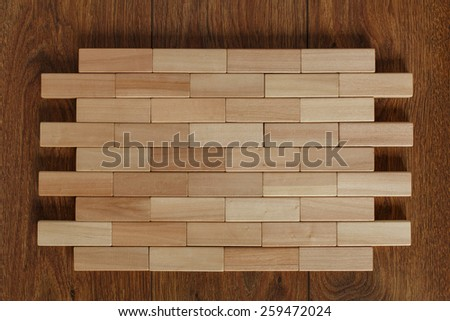 solid wall wooden bars densely stacked stock photo 259472024