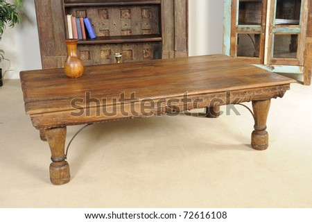 solid wood furniture - stock photo