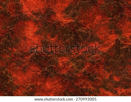 solidified lava texture after eruption volcano - stock photo