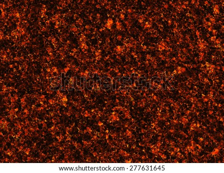 solidified red lava texture after eruption volcano. painted drawing - stock photo