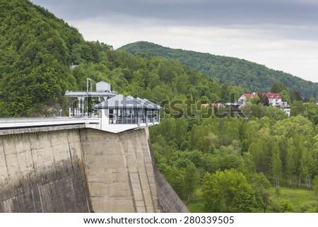 Solina Dam - Poland - stock photo