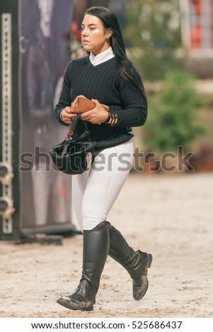 Solna Sweden Nov   Maxida Marak At The Celebrity Jumping In