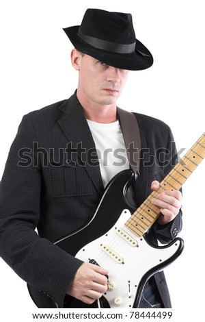 Solo Performance - male playing electric guitar
