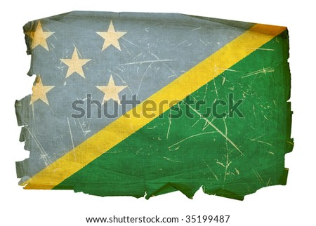 Solomon Islands Flag icon, isolated on white background.