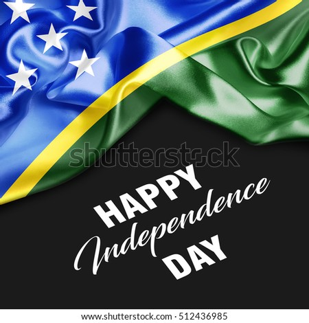 Solomon Islands Happy Independence Day. 3d illustration
