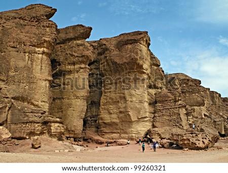 Solomon's Pillars, Israel - stock photo