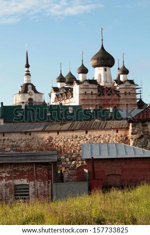 Solovetsky Monastery - architectural ensemble Solovetsky Kremlin - stock photo