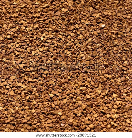 Soluble coffee background close-up - stock photo