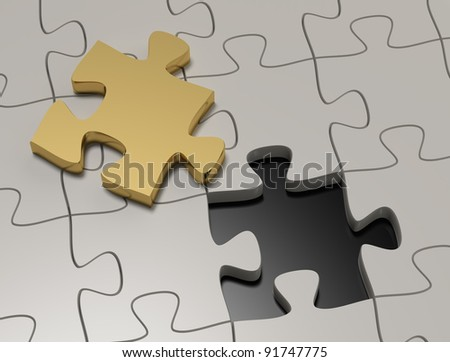 solution - stock photo