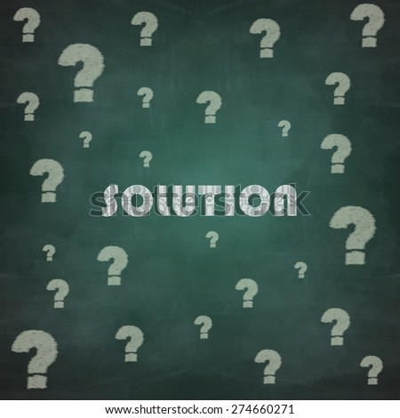 solution around all the questions - stock photo
