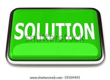 Solution button - stock photo