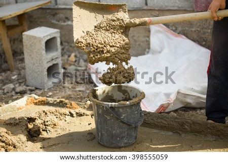 solution for plaster - stock photo